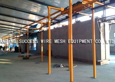 China Eco Friendly Wire Fence Making Machines , PVC Wire Coating Machine Various Colors supplier