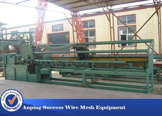 China Double Wire Chain Link Fence Making Machine With Advanced Technology Low Noise supplier