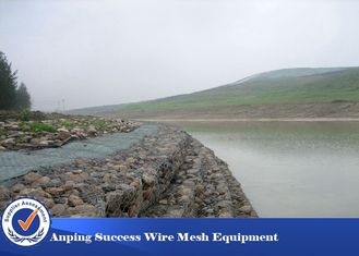 China Environment Protecting Gabion Retaining Wall / Hexagonal Wire Netting 8x10 Mm supplier