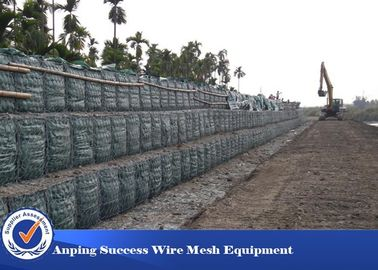 China Galvanized Low Carbon Gabion Wire Mesh Gabion Box Galfan Material 10x12 Cm supplier
