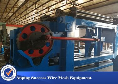 China Allumen Gabion Mesh Machine Blue Color Automatic Oil System 100x120mm Mesh Size factory