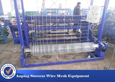 China High Speed Cattle Fence Machine , Grassland Fence Making Machine Small Size distributor