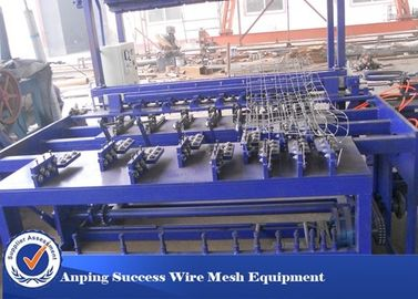 China Hot Dipped Galvanized Wire Grassland Fence Machine Blue Color Easy Operation distributor