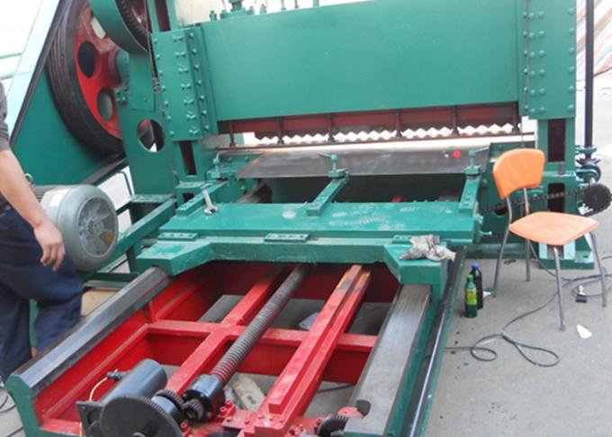 Aluminum Steel Plate Heavy Expanded Metal Mesh Machine High Working Speed