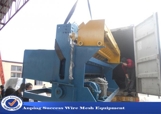 Reinforcing Bar Wire Fence Machine / Crimped Wire Mesh Machine Customized Color