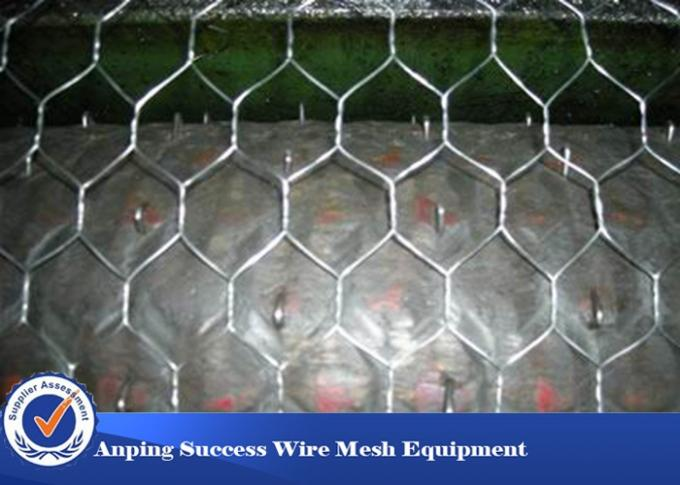 PVC Coated Hexagonal Wire Mesh Machine For Cages Easy Operation 4.6T