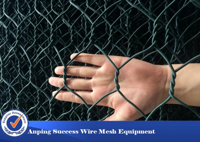 PVC Coated Hot Dipped Gabion Wire Mesh For Flood Bank Customized Length